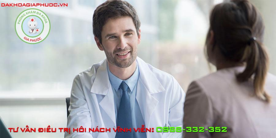 tư vấn điều trị hôi nách vĩnh viễn tại phòng khám đa khoa Gia Phước
